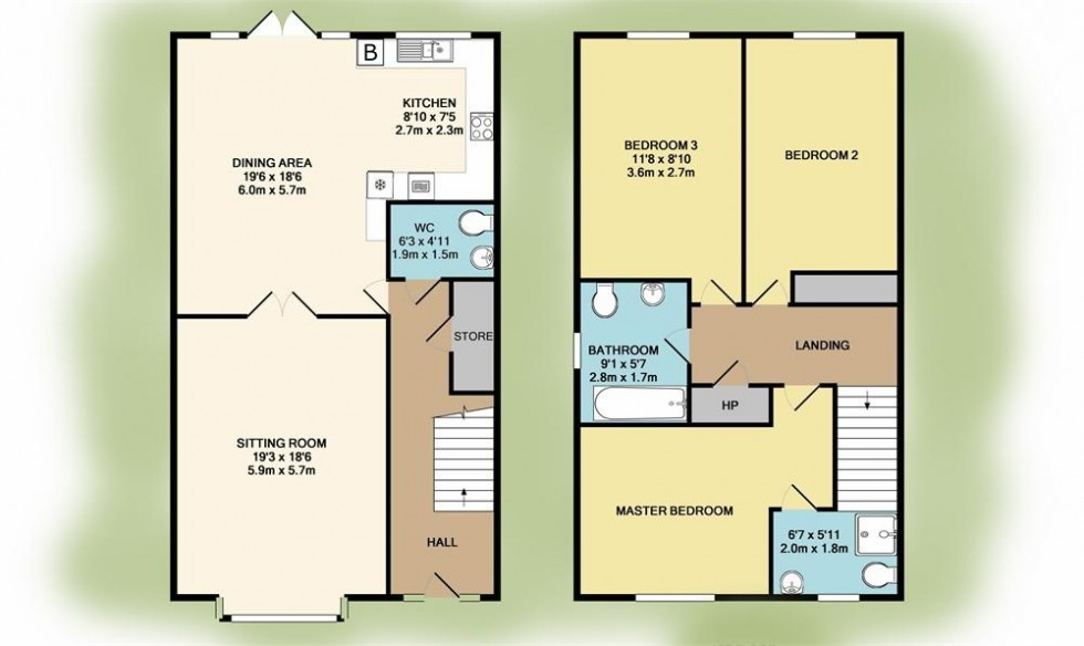 Floorplan for The Mayfield Housetype, The Close, Graigavern Lodge,, Ballybrittas, Co. Laois