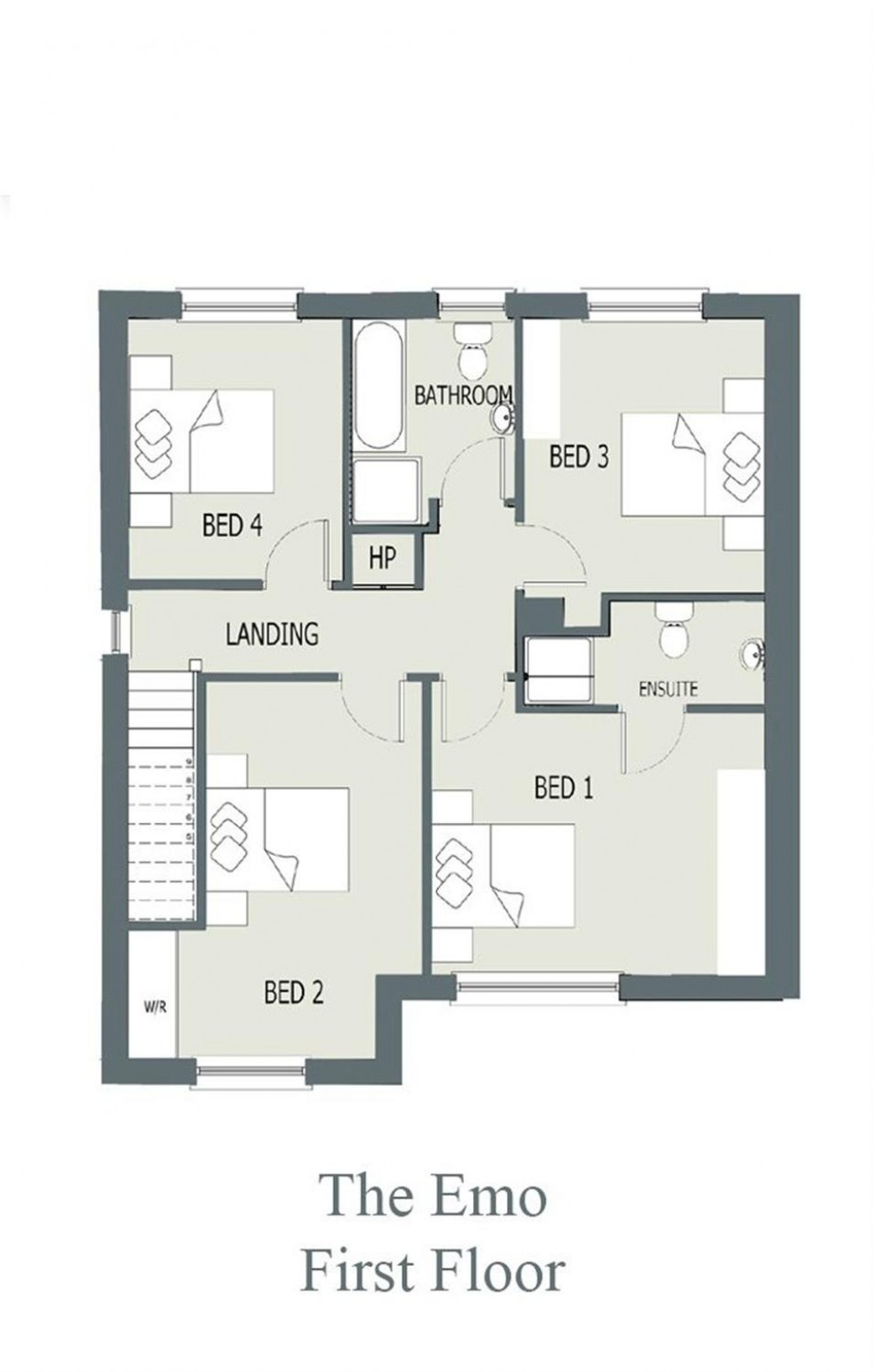 Floorplan for The Emo 4 Bedroom 2020, Ashewood Walk, Stradbally Road, Portlaoise, Co. Laois